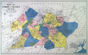 Map Of Pennsylvania And New Jersey by Historical Union County New Jersey Maps