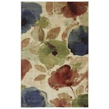 Multicolor Rug Shop Mohawk Home Watercolor Floral Cream And Multicolor