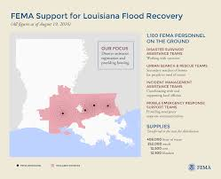 graphic fema support for louisiana flood recovery 8 19 16