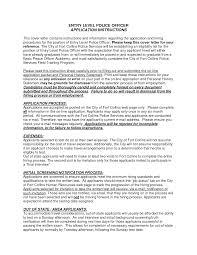Entry Level Position Cover Letter Cover Letter Design Entry Level Police Officer Cover Letter