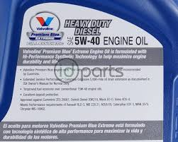 valvoline premium blue extreme synthetic 5w40 1 gallon ms 10902