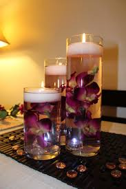 Purple Floating Candles For Centerpieces by Purple With Yellow Center Dendrobium Orchid Floating Candle