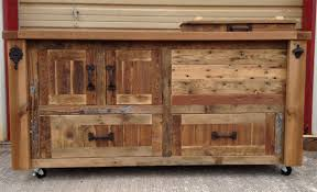 custom reclaimed or barnwood furniture bar cabinets wooden