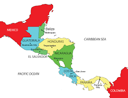 Usa States And Capitals Map by Maps Of The Americas Central America Political Map Capitals