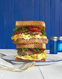 best loaded breakfast sandwiches with fennel herb sausage patties
