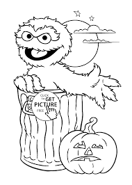 oscar the grouch coloring page latest sesame street charactor