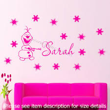 let it go wall quote disney frozen elsa wall stickers jr decal disney frozen snowman olaf personalized name snowflake