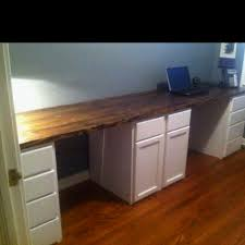 Stain Unfinished Kitchen Cabinets by His And Hers Desk We Built This Past Weekend Unfinished Kitchen