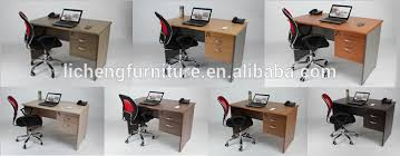 sale office computer desk with locked drawers mdf office desk