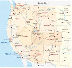United States Map by Western United States Map Royalty Free Cliparts Vectors And