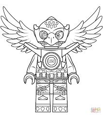 lego chima eagle eris coloring page free printable coloring pages