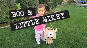 Halloween Costume Monsters Inc Boo And Little Mikey Monsters Inc Halloween Costume Youtube