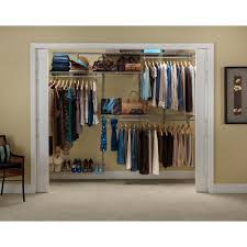 closetmaid shelftrack 5 ft to 8 ft nickel closet organizer kit