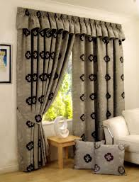 living room white floral print fabric eyelet curtain for living