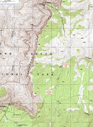 Route 66 Arizona Map by Topographic Map Of The Comanche Point Trail Grand Canyon National