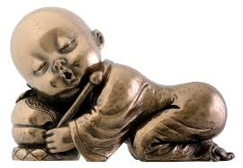 buddha child statue for garden sitting standing praying and