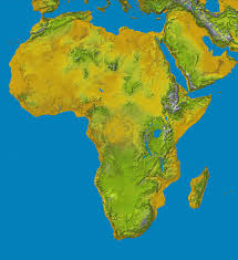Physical Map Africa by Impressum