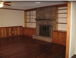 Old Wood Paneling Painting Wood Paneling Shelves And Updating Old Fireplace