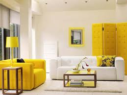 Brown And Yellow Living Room by Yellow And Brown Living Room Ideas Cream Dotted Leather Comfy
