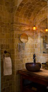 Natural Stone Bathroom Ideas Natural Stone Decorative Wall Mirror Without Frame Pendant Lamp