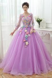 100 real light blue light purple flower long sleeve carnival ball