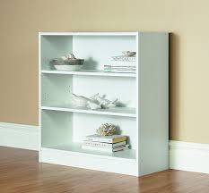 4 Shelf Bookcase White by Amazon Com Mylex Three Shelf Bookcase Two Adjustable Shelves