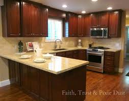 Small U Shaped Kitchen Layout Ideas by Kitchen Islands Furniture White Granite Countertop Wooden Floor