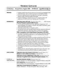 Secretary Job Description For Resume by Medical Cv Template Healthcare Resume Example Resume Example