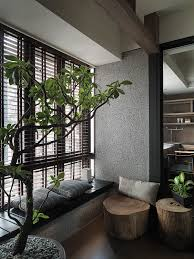 i love the relaxed nature vibe of this office space feels more