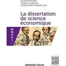 La dissertation en science   conomique   broch     Alain Beitone     Livre   Fnac