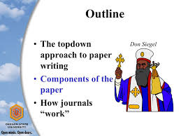 How to write a journal paper Jeff McDonnell  Oregon State     SlidePlayer These ideas influenced by My own experiences with paper writing My post docs and graduate students