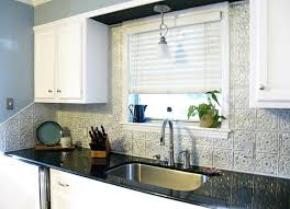 Black And White Kitchen Contemporary Kitchen Tampa By - White tin backsplash