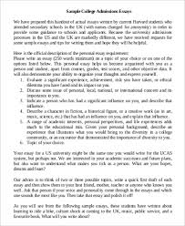 sample of a good college essay  Example of College Essay Samples in Word PDF