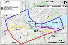 T Boston Map by What You Need To Know About The Comm Ave Closure Wbur News