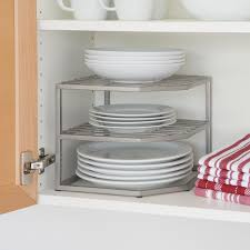 amazon com seville classics 2 tier corner shelf counter and