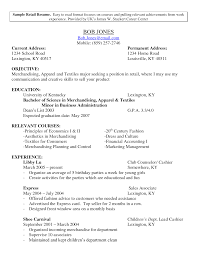 Resume Examples Retail Manager by Cv Writing Retail Jobs
