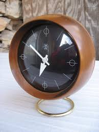 vintage modern george nelson howard miller walnut brass chronopak