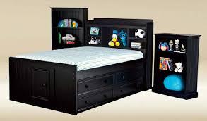 bensonhurst black full size bookcase captain u0027s bed