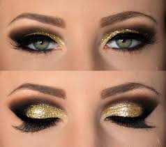 love glitter gold brown eye makeup makeup pinterest brown