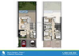 phase 4 floor plans of bloom gardens 3 bedroom townhouse