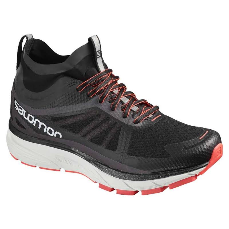Salomon Sonic Ra Nocturne W Road Running Shoes Black/White/Coral 10 L40259600-10