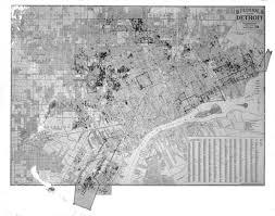 Detroit Michigan Map by Street Map Of Detroit Michigan Dpl Dams