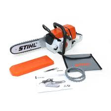 stihl children u0027s battery operated toy chainsaw amazon co uk toys