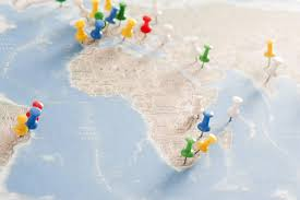 Colored World Map by Image Of Pins In Various Destinations On World Map Freebie