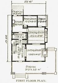 Servant Quarters Floor Plans Foursquare Sears Modern Homes