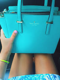 kate spade satchel with a lilly pulitzer dress and i u0027m in love