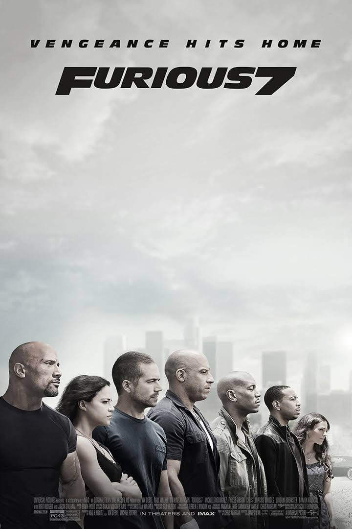 Fast & Furious 7 2015 poster