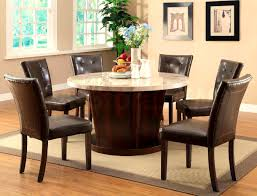Dining Room Sets For 4 Furniture Beautiful Brown Round Dining Room Table Set Tables