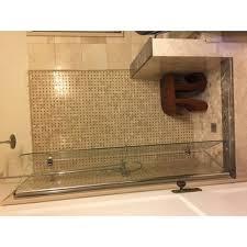 dreamline aqua fold shower door 33 5 in w x 72 in h clear glass