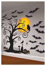 Scary Ideas For Halloween Party by Indoor Wall Decorating Kit Spooky Halloween Indoor And Walls